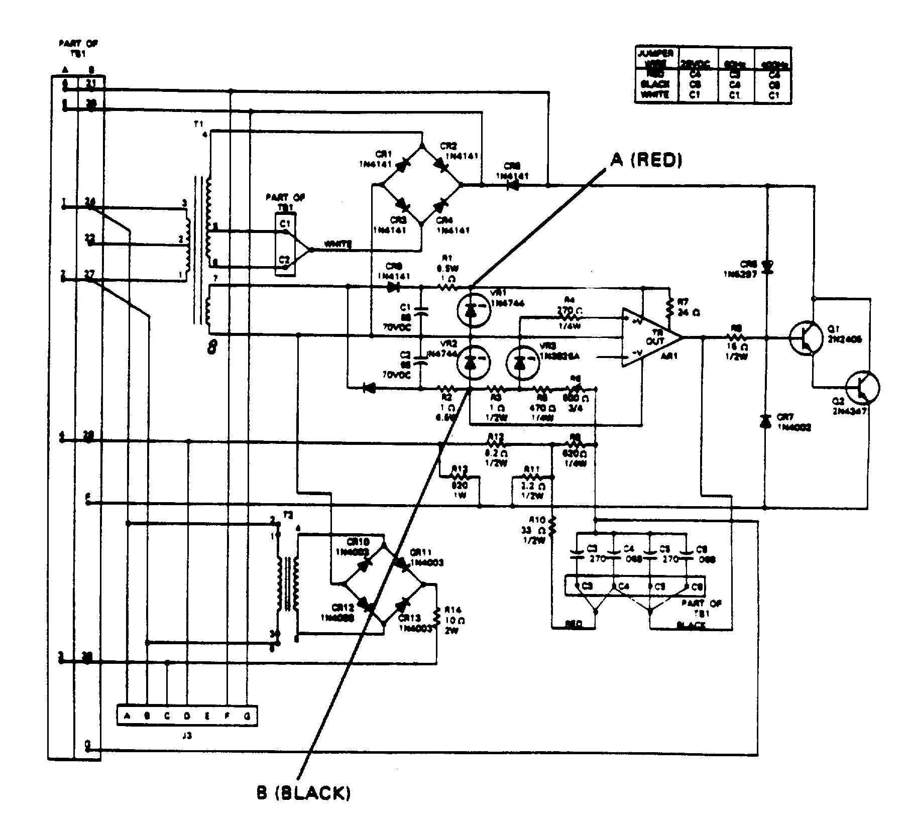 locate r6 on the printed circuit board